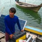 Solar panels delivered to Tung Dap Village on Ko Phra Thong