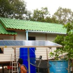 Solar panels in Tung Dap Village on Ko Phra Thong