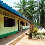 New rain gutters was installed at the Burmese Learning Center in Kuraburi