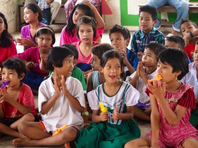 Students enjoy learning at the Burmese Learning Center in Kuraburi, Thailand
