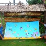 Locally made batik at the ban talae nok community tourism center, Thailand