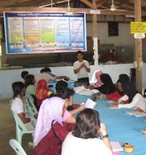 Community members at a North Andaman Community Tourism Network meeting